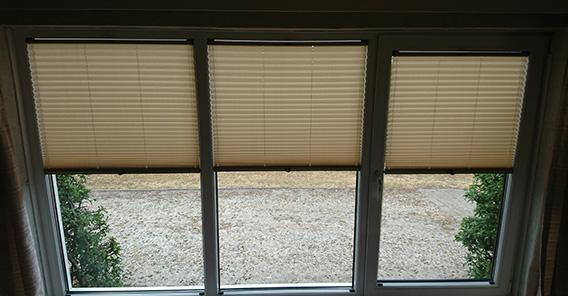 plisse raamdecoratie